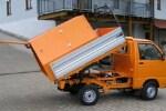 Müllaufbau Container kurz mit Schiebeklappen